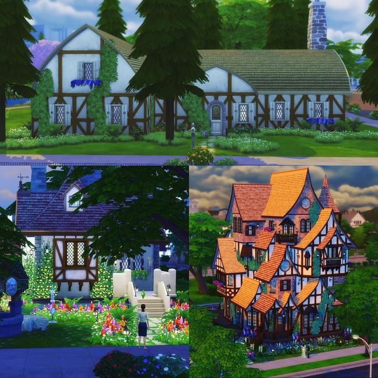 So far I've built Snow Whites cottage, Belle's cottage and the Weasley's Burrow. Any suggestions of what to build next? #thesims4 #snowwhite #belle #weasleys #theburrow