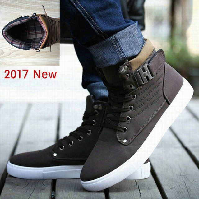 Hot Selling Men Shoes Fashion Warm Fur Winter Boots Autumn Leather Footwear New High Top Canvas Casual Gents Shoes