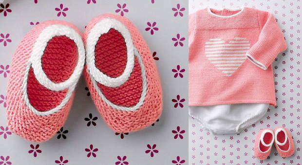 Les chaussons bicolore au point mousseOn craque pour ce modèle de chaussons à…