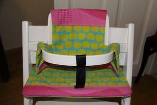 Anleitung Sitzkissen und Rückenkissen für einen Kinderhochstuhl