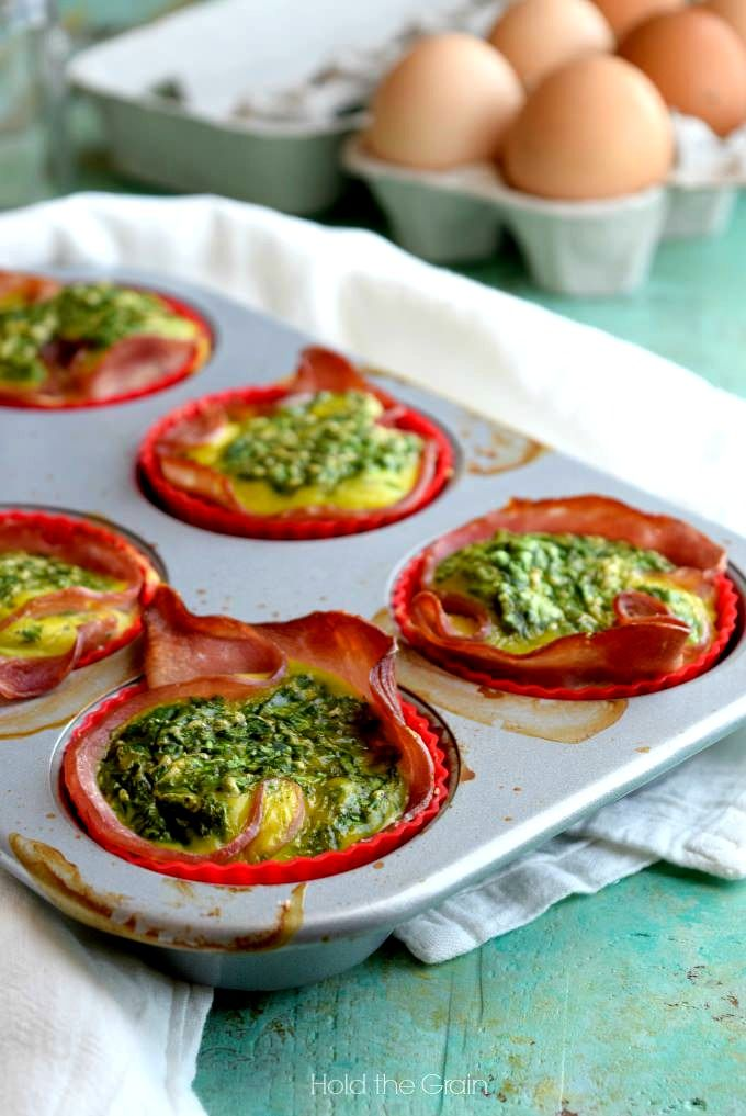 Ham and Spinach Egg Muffins