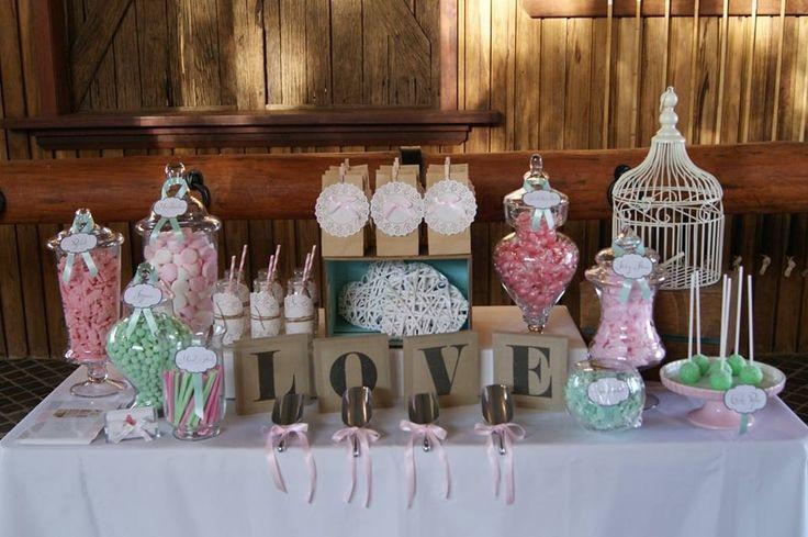 Vintage Shabby Chic Wedding Lolly Buffet by All Things Sweet www.allthingssweetbycarissa.com.au