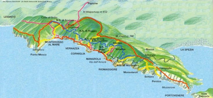 Cinque Terre, Italy! hiking_trail_map