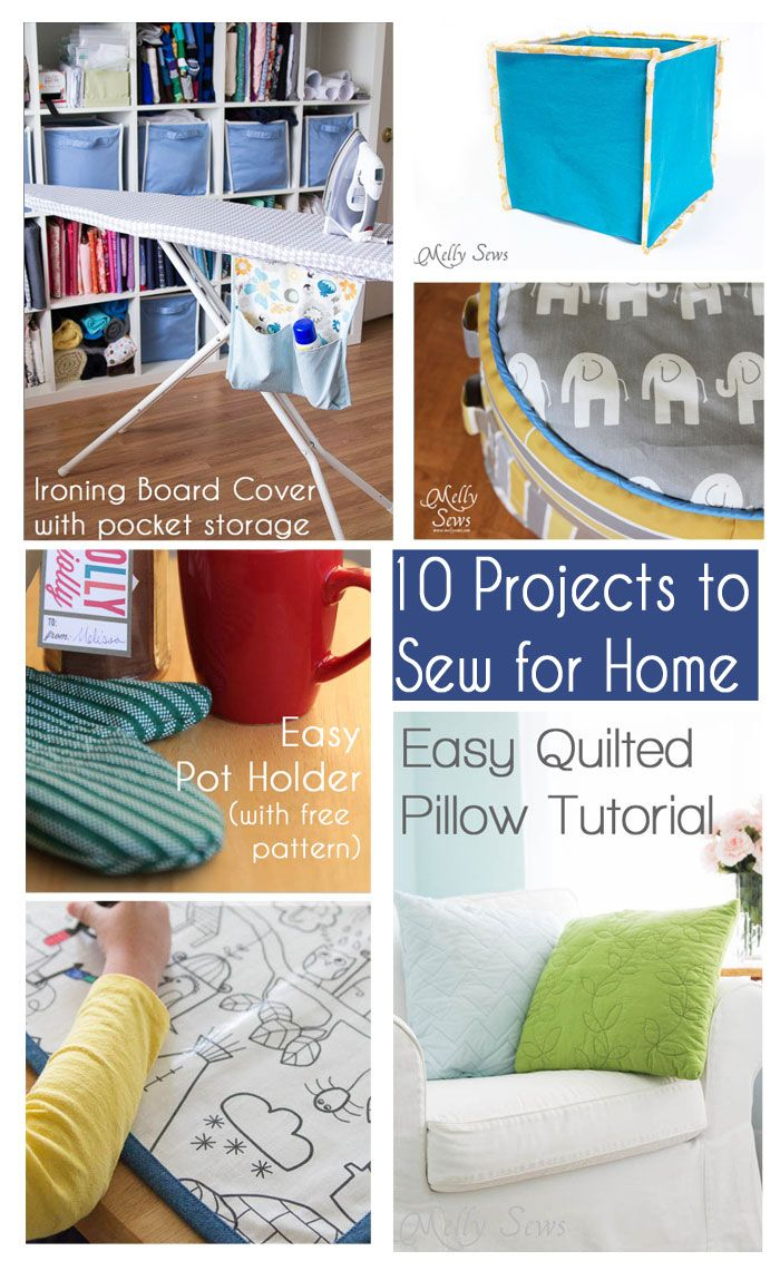 10 Things to Sew for Home - Melly Sews