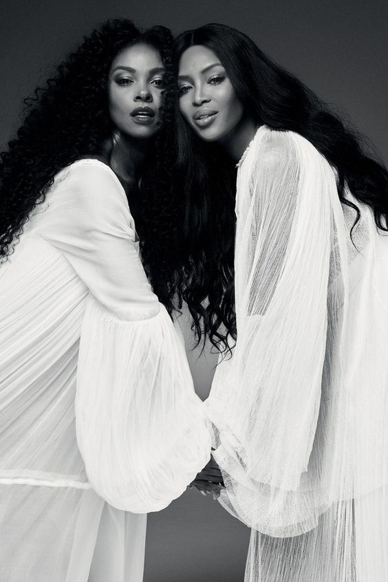Naomi Campbell and Brazilian actress Cris Vianna for VOGUE Brazil May 2016.  Photography by Bob Wolfenson