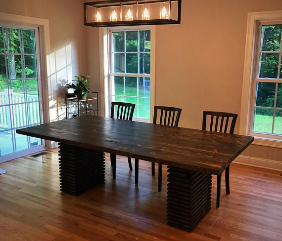 Crafted from reclaimed wood  this unique dining table merges modern and  rustic  Available with a natural finish or stained  Due to size  piece must  be. Best 25  Unique dining tables ideas on Pinterest   Dining room