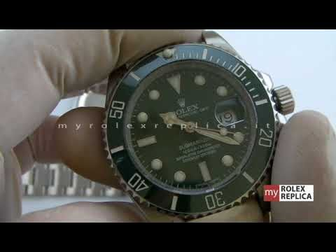 Video del Rolex Submariner Date Quadrante Verde Swiss Eta