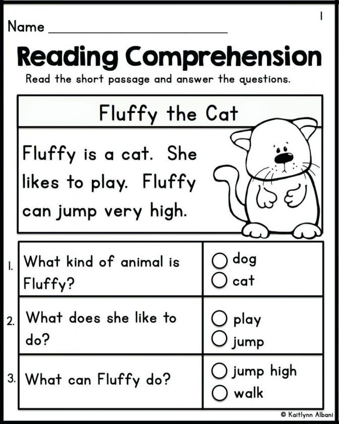 Good Free Printable Kindergarten Worksheets Kindergarten Worksheets Foran In 2020 Reading Comprehension Kindergarten Kindergarten Reading Worksheets Reading Worksheets