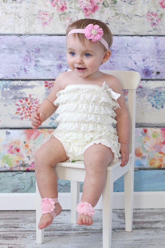 Barefoot Sandals U PICK Baby girl flower shoes Pink newborn