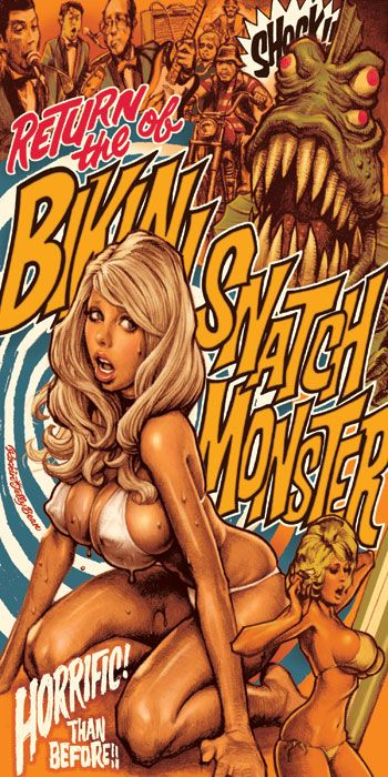 Return of the Bikini Snatch Monster poster by Rockin' Jellybean
