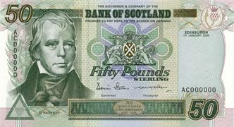scotland money | Bank of Scotland Tercentenary Series £50 note