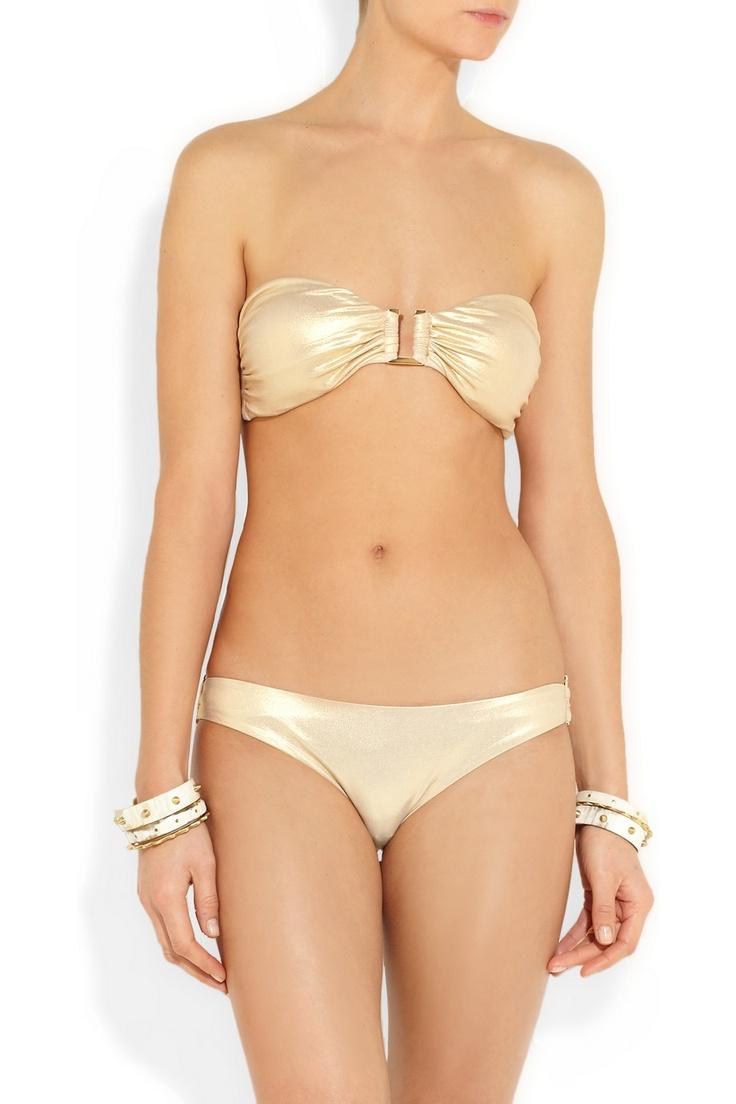 2013: MELISSA ODABASH  Rome metallic bandeau bikini