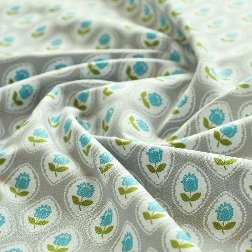 Tkanina bawełniana kwiaty Gabbie Cameo Grey Blend Fabrics