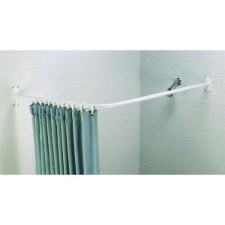Zenith 90 Deg. L-Shaped Corner Shower Rod