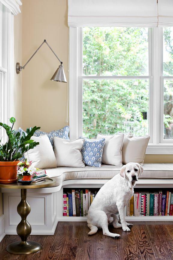 Window Seat And Storage On Underutilized Wall In Kitchen
