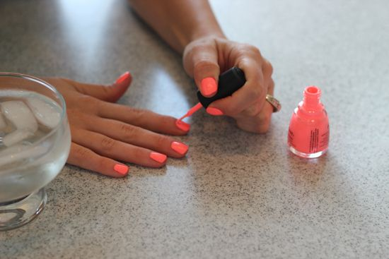 How to Make Your Nail Polish Dry Fast: dip painted nails in ice water! Great for little kids!!