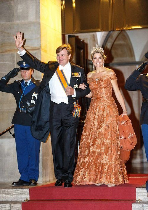 MyRoyals:  Gala Dinner for the Corps Dipomatique, Royal Palace, Amsterdam, June 24, 2015-King Willem-Alexander and Queen Maxima