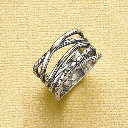 Multi-strand silver ring by Pia Jewellery, £30