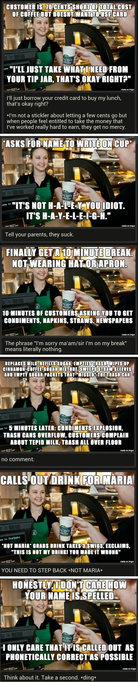 """#Starbucks #barista // 2nd picture: #Sinbad once said to a kid he was signing an autograph for (commenting on how her parents' spelled it), """"We'll spell it this way; they'll *never* get it right."""""""