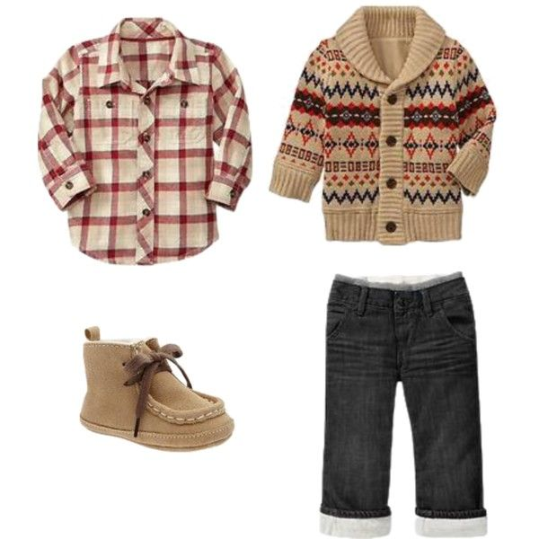 """""""Fall Infant Boy Browns"""" by swtginger on Polyvore"""