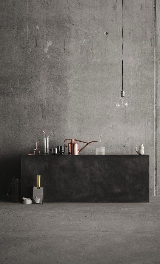 Concrete in the kitchen / via Coco Lapine Design