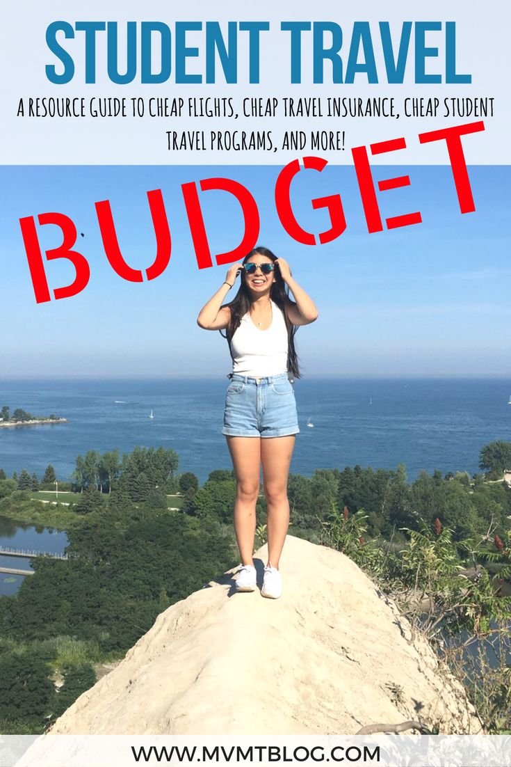 STUDENTS: The struggle is real - you want to travel but can't afford to as a broke college student. Worry no more because we've put together a guide to our favorite resources for cheap student travel, including cheap flights, cheap student travel insurance, and student travel programs. And for non-students, we've included some general budget travel tips as well, so feel free to click through now to read or pin for later!