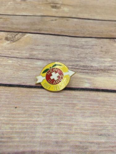 Vintage New Glarus Wisconsin, WI 1987 Enamel TELL 50th Celebration Lapel Pin