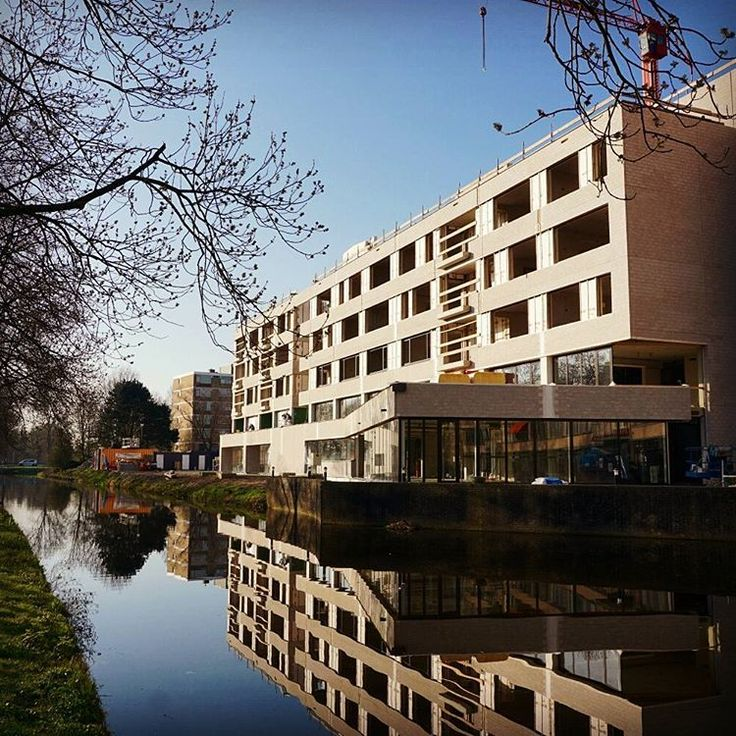 MgO boards used in the facade of this building. One of our projects in Leiden, The Netherlands.
