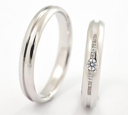 jemné snubní prsteny z bílého zlata 032
