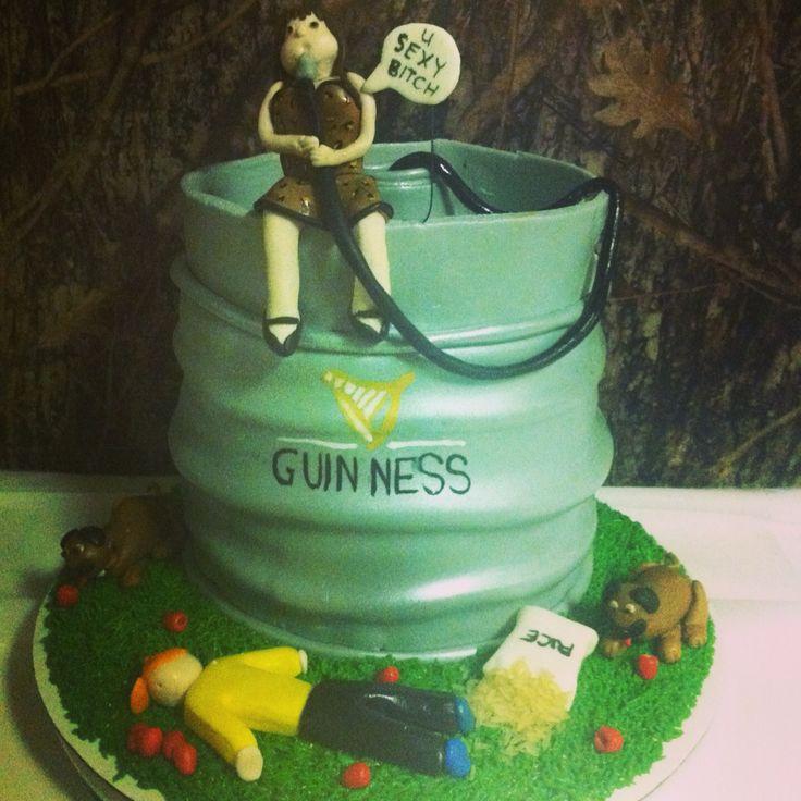 Guinness keg cake