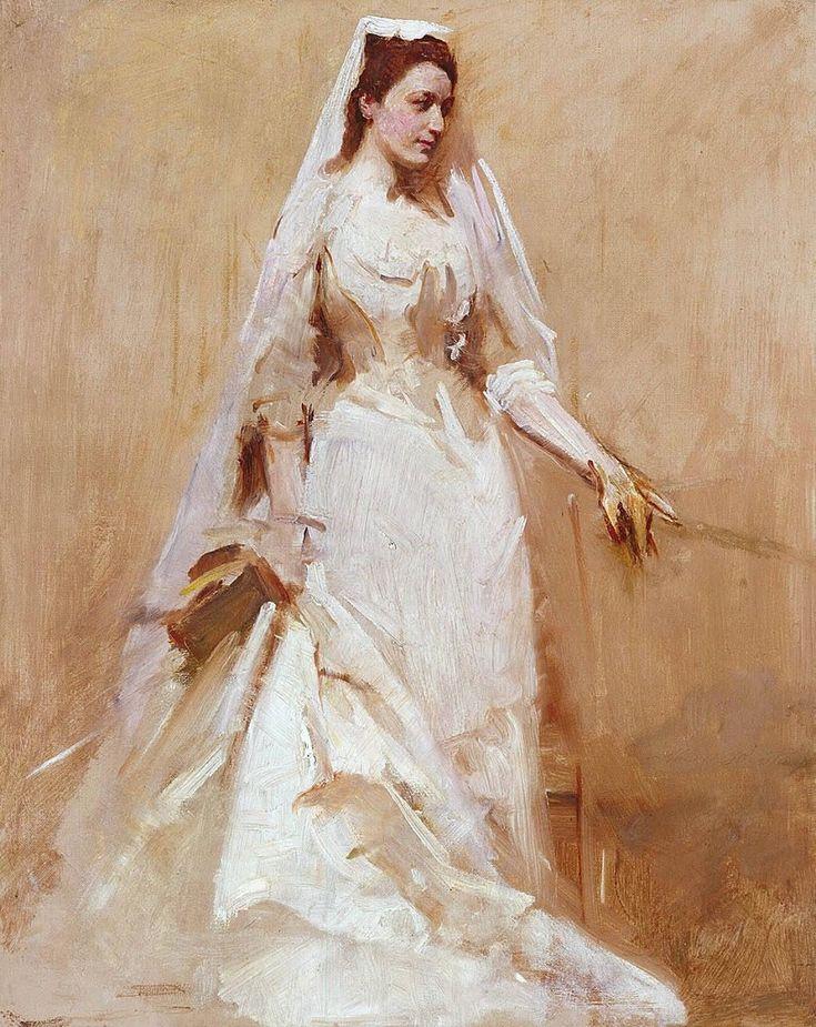 1895 Abbott Handerson Thayer (American artist, 1849-1921) A Bride