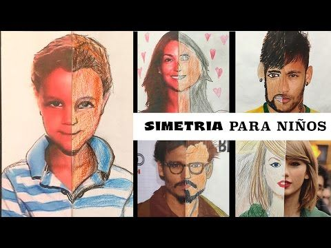 Simetría para niños - Dibujo de retratos simétricos - YouTube