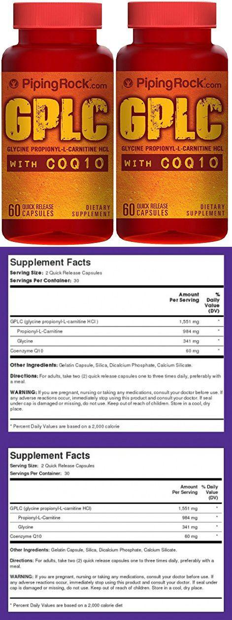 GPLC GlycoCarn Propionyl-L-Carnitine HCl with CoQ10 2 Bottles x 60 Capsules