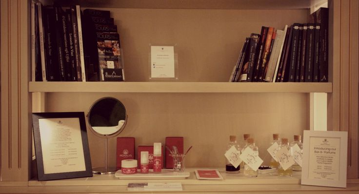Our Beauty Bar Corner at Palazzo Guicciardini. A new way to taste our skincare.