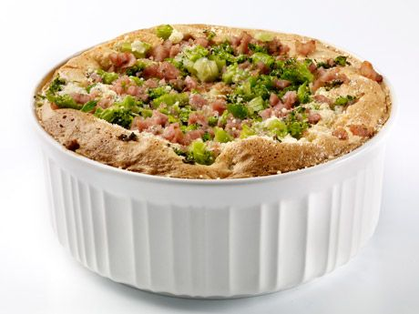Heres an easy way to get both kids and adults to eat their broccoli. Make a spicy and enticing soufflé using butter, Parmesan cheese, and a little pepper combined with the food everyone loves — SPAM® Classic.