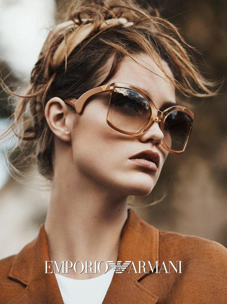 Luna Bijl Pose for Emporio Armani SpringSummer 2016 Eyewear campaign