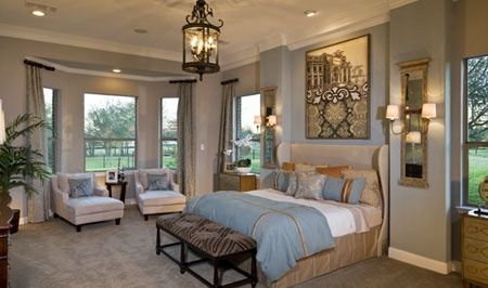 Toll Brothers Cartegena Luxurious Master Bedroom With Bay