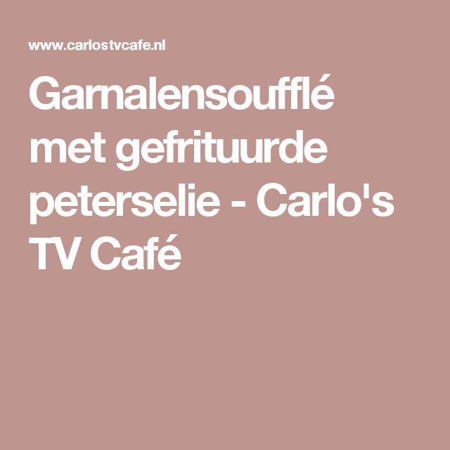 Garnalensoufflé met gefrituurde peterselie - Carlo's TV Café