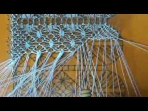 Encaje de Bolillos. Cómo hacer una hoja de pluma en el encaje.mp4