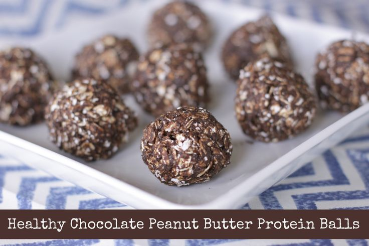 Protein ball peanut butter protein and chocolate peanut butter on