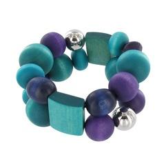 Rentukka bracelet, turquoise-violet - Aarikka  www.aarikka.com