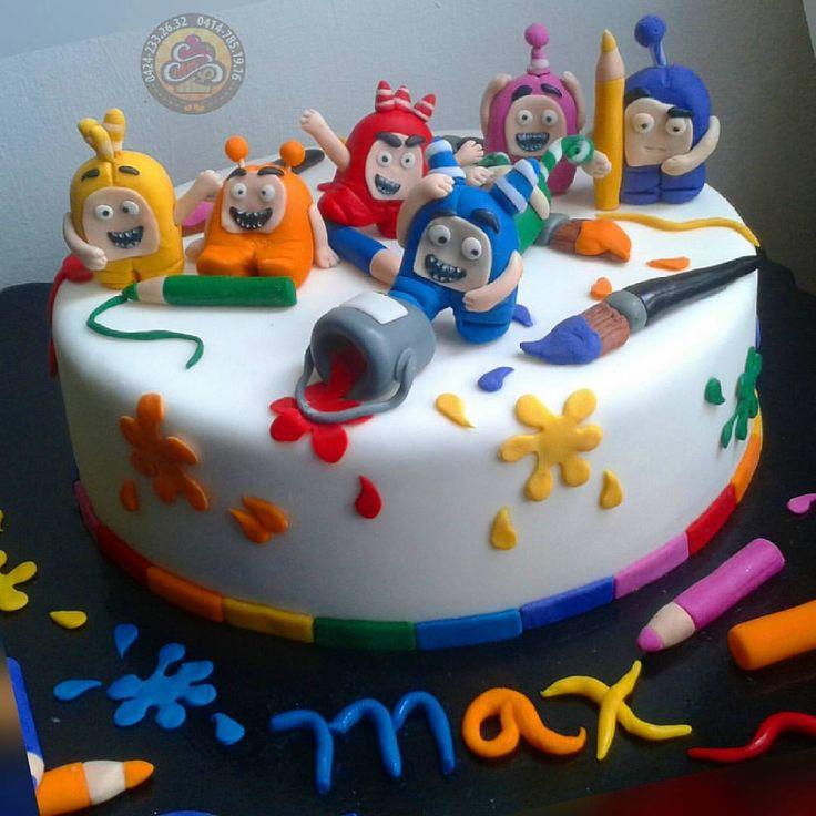 oddbods------------------------------- #oddbods #oddbodscake #kidscakes #cake #cakedesigner #cakedec - cherrys_cakes