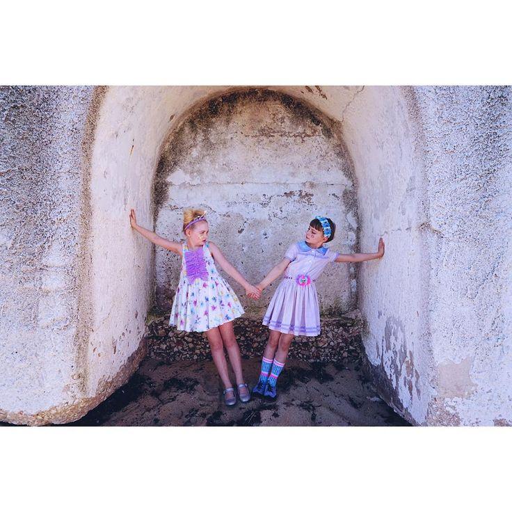 """✨2 beautifulgirls in sellerdresses✨ #ss2016 #fäfä #kids  #kawaii #kidsfashion #instoresnow #monopoli  Photography by @celinehallas Thank you so…"""