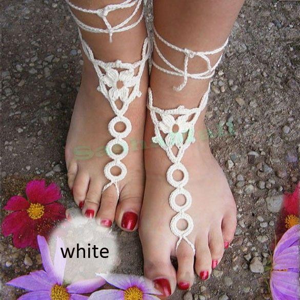 Низкая цена пляжные свадебные крючком свадебные босиком сандал обнаженная обувь ног ювелирные изделия, викторианской кружева йога обувь свадебные ножной браслет 41 купить на AliExpress