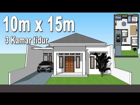 Eps.6 Desain rumah minimalis 10x15 3 kamar tidur - YouTube ...