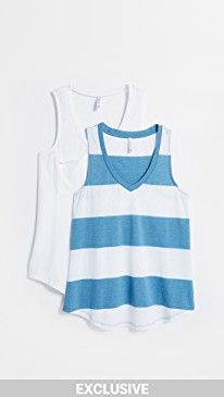 New Z Supply The Stripe Pocket Tank 2 Pack online. Perfect on the Yummie Clothing from top store. Sku sqoa91051waul28130