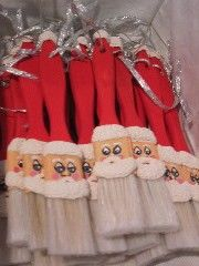 Personalize my Hand made paintbrush Santa ornament by AmysArtWorld, $7.00