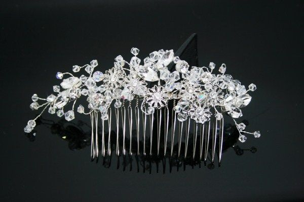 Swarovski crystal bridal comb rhinestones