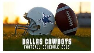 Cowboys Schedule 2015: Dallas Football Game Dates & Start Time
