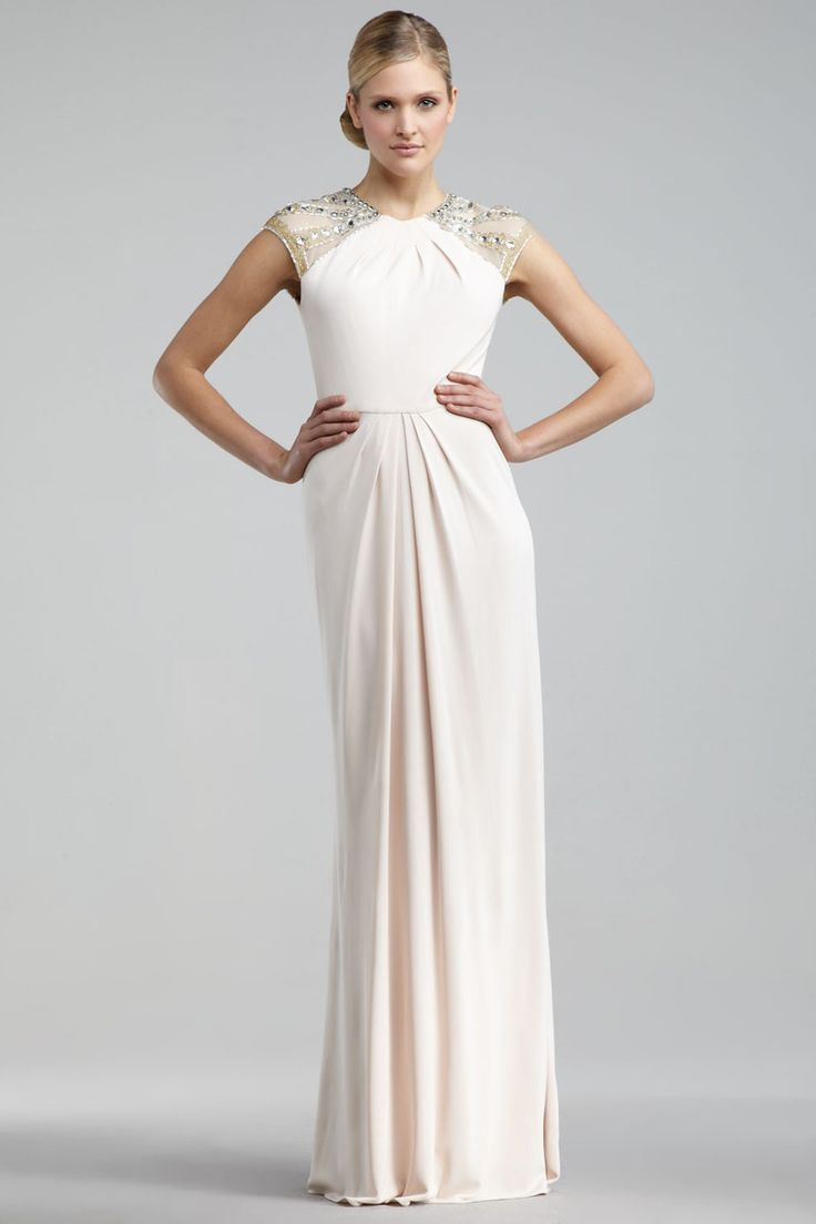 Shop New Collection Floor Length Scoop Neckline Sheath Column Chiffon Online affordable for each occasion. Latest design party dresses and gowns on sale for fashion women and girls.